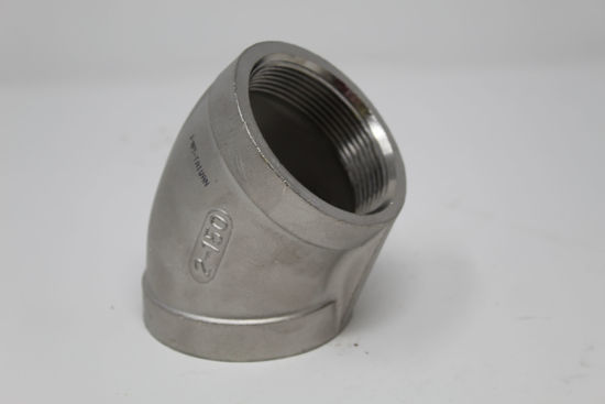 Picture of ELBOW 150# 304SS THREADED 45* 2""
