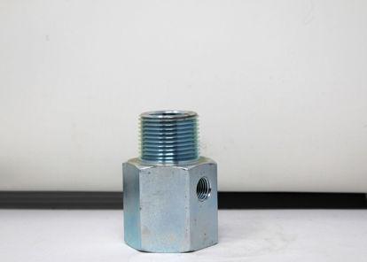 """Picture of ACME A2031: 1"""" MALE PIPE THREAD x 1"""" FEMALE PIPE THREAD WITH 1/4"""" FEMALE PIPE THREAD SIDEOUT"""