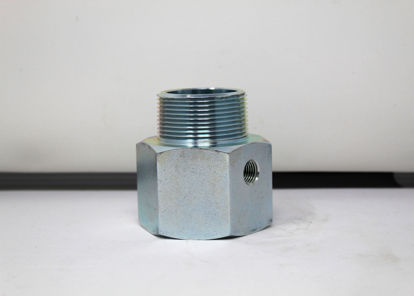 """Picture of ACME A419G: 1-1/2"""" MALE PIPE THREAD x 1-1/2"""" FEMALE PIPE THREAD WITH 1/4"""" FEMALE PIPE THREAD SIDEOUT"""
