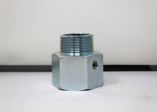 "Picture of ACME A419G: 1-1/2"" MALE PIPE THREAD x 1-1/2"" FEMALE PIPE THREAD WITH 1/4"" FEMALE PIPE THREAD SIDEOUT"