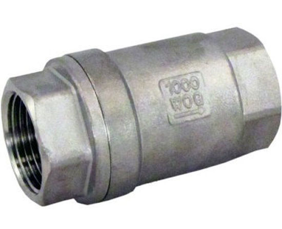 """Picture of VALVE CHECK 1 1/2"""" STAINLESS STEEL"""