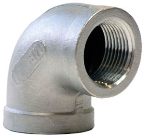 """Picture of ELBOW 150# 304SS THREADED 90* 3/8"""""""