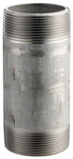 """Picture of NIPPLE SCH40 SS304 3/8"""" X 6"""""""