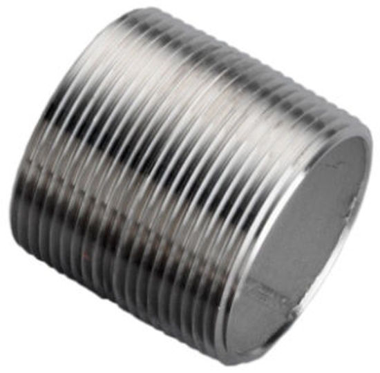 "Picture of NIPPLE SCH40 SS304 1-1/2"" X CL"