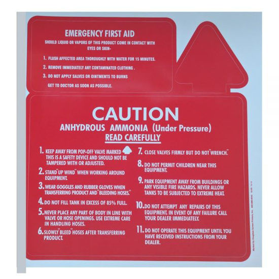 Picture of DECAL 3 PART SAFETY