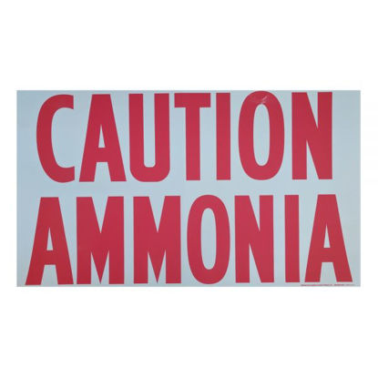 """Picture of DECAL 6"""" RED CAUTION ANHYDROUS AMMONIA"""